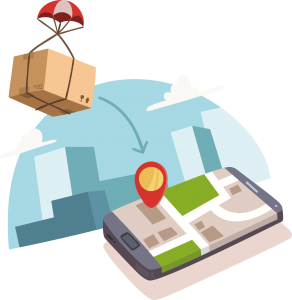 sample delivery icon