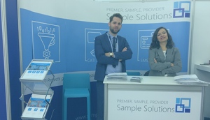 Sample Solutions stand